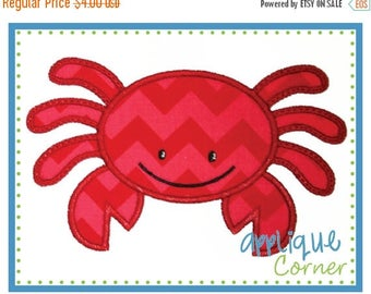 40% OFF INSTANT DOWNLOAD Crab Boy applique design in digital format for embroidery machine by Applique Corner