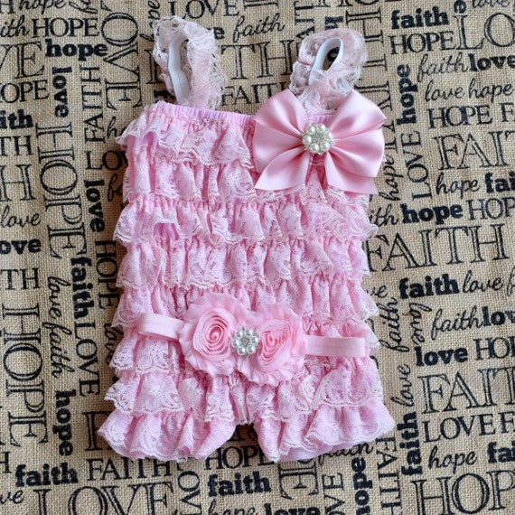 Pink Romper, Baby Girl 1st Birthday Outfit, Cake Smash
