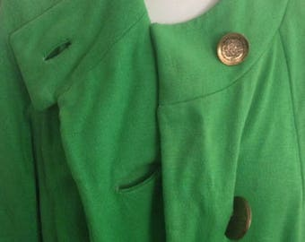 Women's 1950's green dress coat
