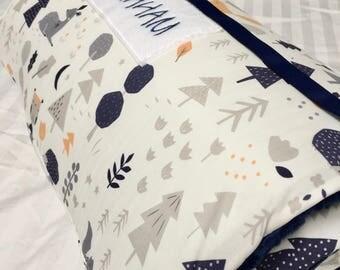 Nap Mat with Pillow, Woodland Nap Mat, Organic, Deer, Daycare Nap Mat, Kindergarten Nap Mat, Toddler Nap Mat, Nap Mat with blanket