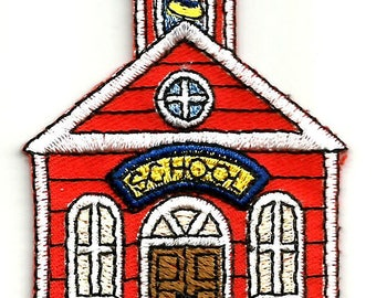 School - School House - Teacher - Embroidered Iron On Applique Patch