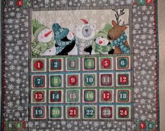 Advent Calendar kit. Northcott. Hurry Up Santa. Christmas.