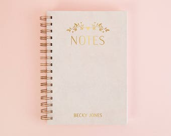 Personalised Botanical Notebook