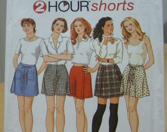 Simplicity 9686 Culottes, skort, shorts sewing pattern 4 6 8 UNCUT