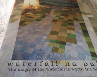 Paper pattern for a quilt called Waterfall na pali by beyond the reef in two sizes