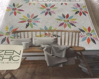 """Paper Pattern for a quilt called Flowerbed by zen Chic for Moda 86"""" square"""