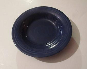 "vintage genuine fiesta cobalt 8"" flat soup bowl"