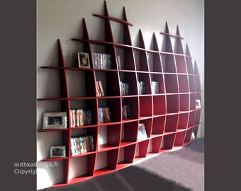 Invisible fastenings GM2 design wall library