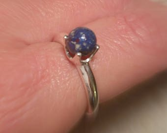 Custom Keepsake / Memorial Bead Ring - made from your Flower Petals or Pet fur or Cremains - TERRENE Ring