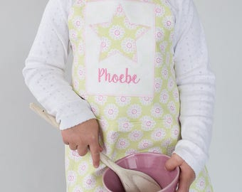 Personalised Apron, Handmade, Embroidered, Children's Apron, Baking Gift, Little Baker, Nursery Apron, Personalized Apron, Christmas Baking