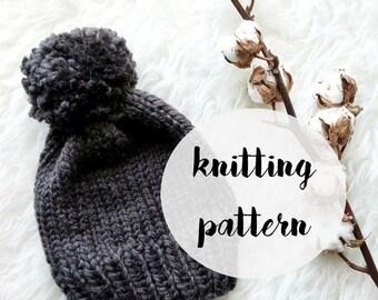 Hat Knitting Pattern / Beanie Knitting Pattern / Toddler Hat Pattern / Womens Hat Pattern / Baby Hat Knitting Pattern