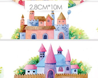 1 Roll Limited Edition Washi Tape: Fairytale Castle