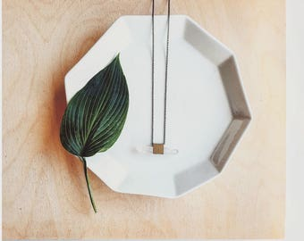 Quinn Necklace   Quartz cube