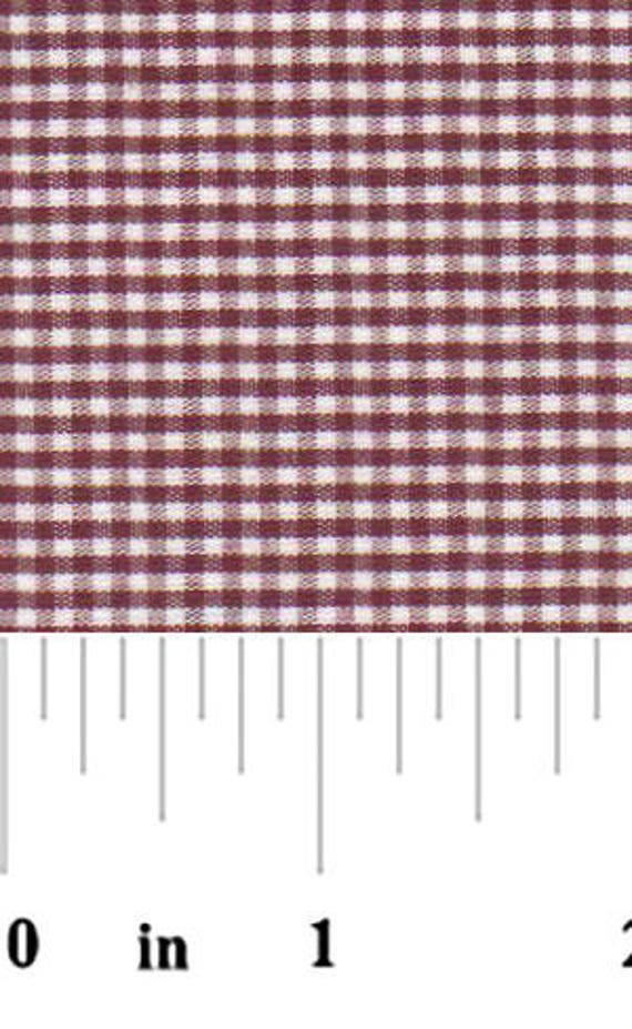 High Quality Fabric Finders Crimson Gingham