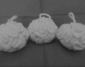 Mini Cotton Bath Puff in your choice of color - Washable Shower Pouf - Child's Cotton Bath Sponge - Gifts for Her