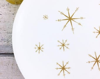 """SUMMER SALE Royal China Star Glow Dinner Plates 10"""""""