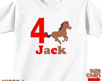 Personalized Pony Horse Riding Horseback Birthday Party Shirt Boys Girls 1st First 2nd 3rd 4th 5th 6th Birthday Party Horses Ponies Riders
