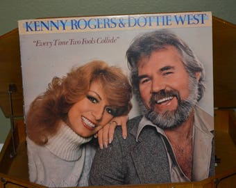 Vintage Vinyl Record Kenny Rogers and Dottie West: Every Time Two Fools Collide Album UA-LA864H
