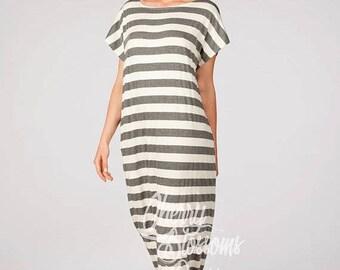 SALE ON 20 % OFF Striped maxi dress/ Caftan/ Maxi dress Summer/ Casual dress/ Long maxi dress/Kaftan/Plus size dress/Plus size clothing/Beac