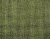 RESERVED FOR KATHERINE - Handwoven Olive Green Genji Wheel Vintage Japanese tsumugi silk kimono fabric