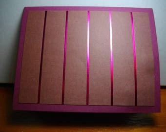 Foiled Berry Stripes over Cocoa on Berry Cardstock 8-Card Box