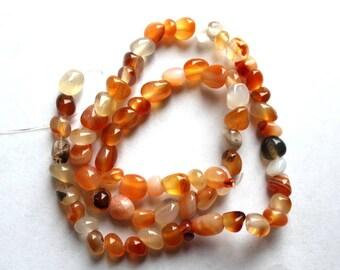 Full Strand of Carnelian Nugget Beads