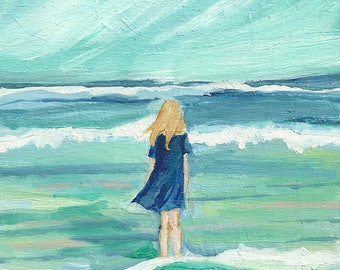The Sea - limited edition print of an original oil painting
