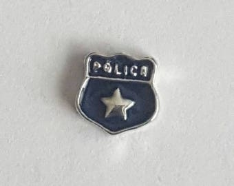 Policeman Badge Floating Charm- Origami Owl- Living Locket
