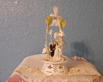 Vintage wedding cake topper, Bride and groom, Anniversaries, Bridal shower decor, Props, Staging, Retro weddings
