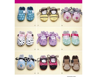 Simplicity Pattern 2491 Baby Booties Size A XS,S,M,L