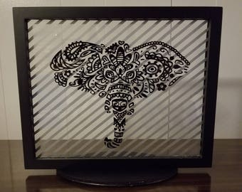 Elephant Silhouette (on a stand)