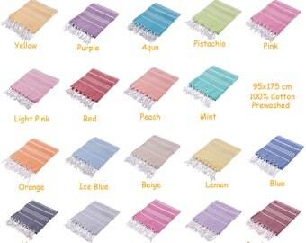 Set Of 4 SULTAN Peshtemal Beach Towel Pestemal Hamam Turkish Towel