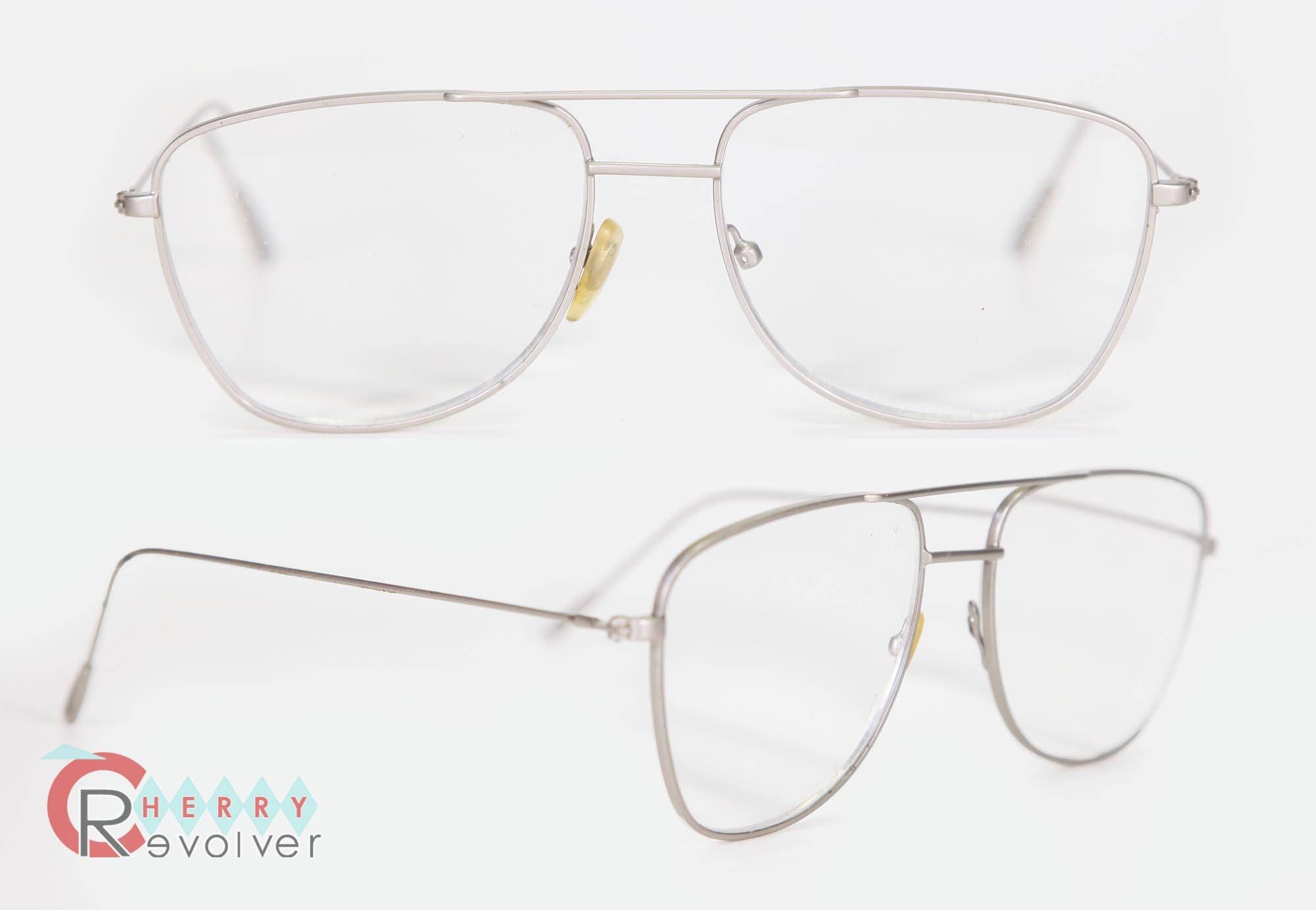 cec96266415 cherryREVOLVER Vintage Silver Wire Aviator Mens Eye Glasses Thin Metal  Frames