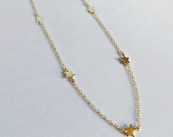 Gold star necklace, star necklace, gold star, everyday necklace, tiny star necklace, star jewelry, dainty necklace, dainty gold necklace