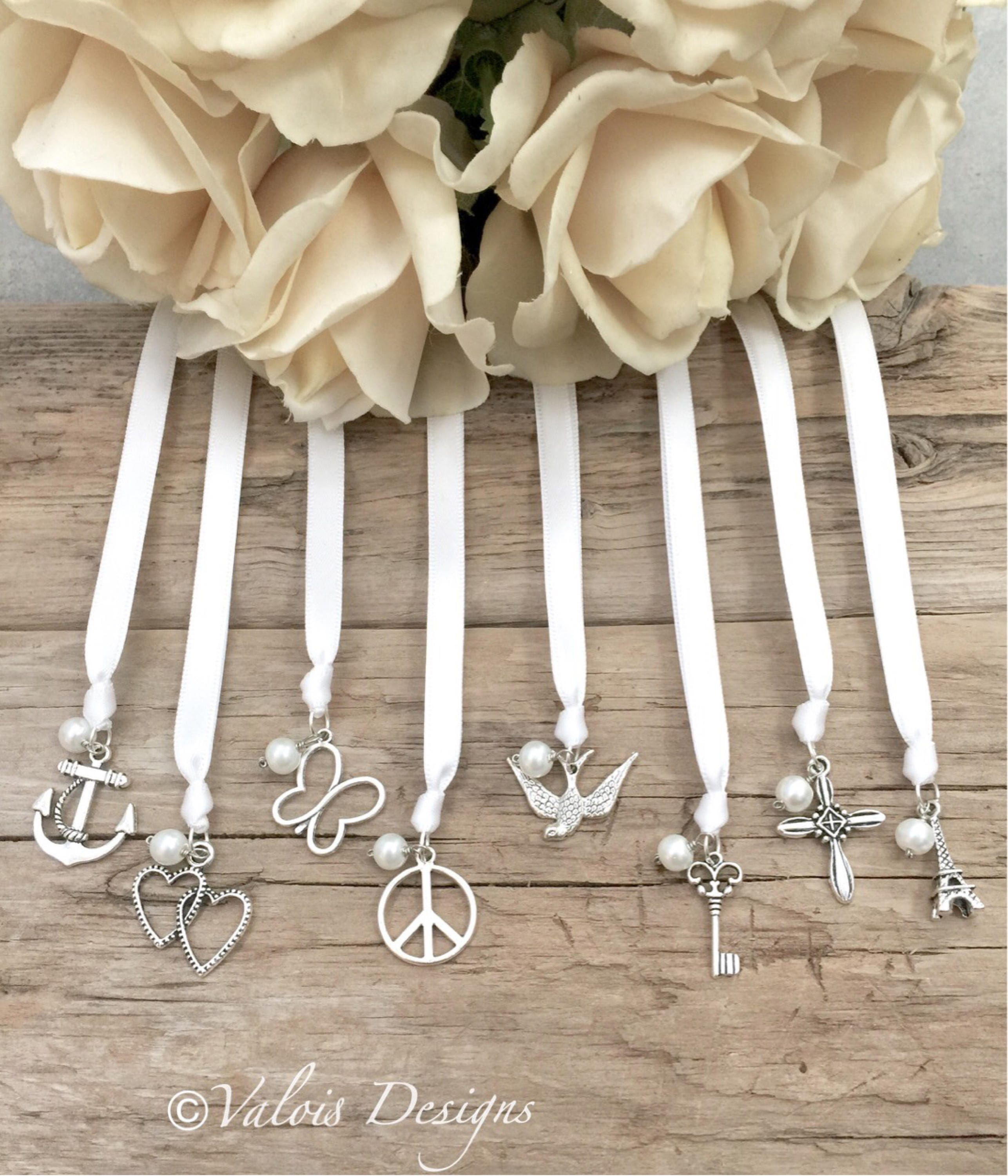 wedding cake ribbon pull traditional ribbon cake pulls set of 8 wedding charms 23682