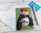 Hamster Sam Gamgee Card featuring 'Hamwise Gamgee' needle felted model photo LOTR Greetings Card Stationery Notelet