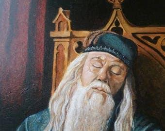 Dumbledore portrait  Hogwarts Harry Potter wizarding world