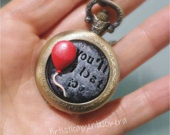 Fob watch necklace.