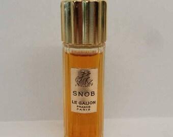 1960s Le Galion SNOB Perfume 1/4 oz.