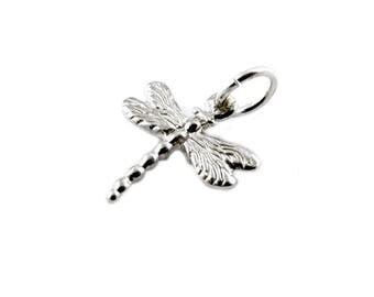 Sterling Silver Dragonfly Charm For Bracelets