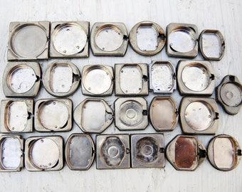 Vintage Watch Back Lids - set of 26 - c192