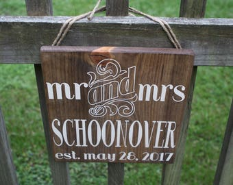 Custom Wedding Sign- MR & MRS