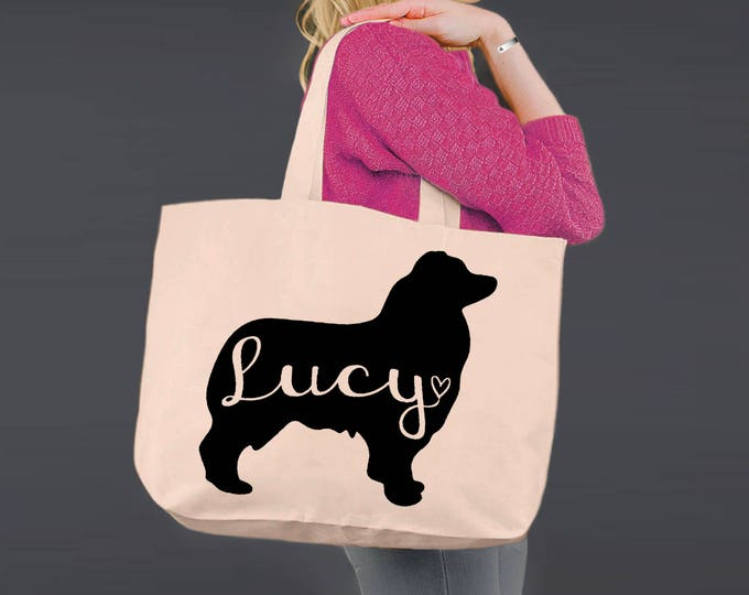 Australian Shepherd | Tote Bag | Canvas Tote Bag | Beach Tote | Canvas Tote | Shopping Tote Gift | Shopping Bag | Dog Tote | Korena Loves