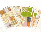 Hello Autumn Full Sticker Kit for Erin Condren Planner, Autumn Stickers