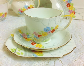 Grafton Hand Painted Tea Trio from the 1930s
