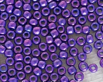 8/0 Higher Metallic Grape Toho Seed Beads, Toho 8/0 Higher Metallic Grape Seed Beads, 4991, 15 Grams 8-461 Toho Higher Metallic Grape