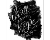 A Thrill Of Hope - Print
