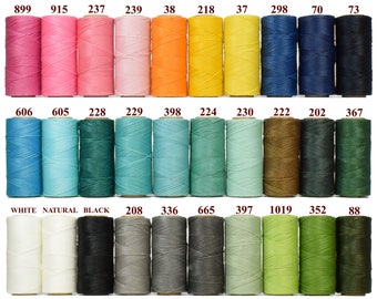 40 spools Waxed Cord - Linhasita - Macrame Thread - Stringing Thread - Jewelry Cord