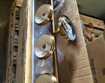 Brass tone fixtures