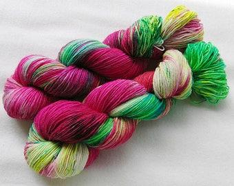 Handdyed SockYarn, 75 Wool, 25 Nylon 100g 3.5 oz. Nr. 170